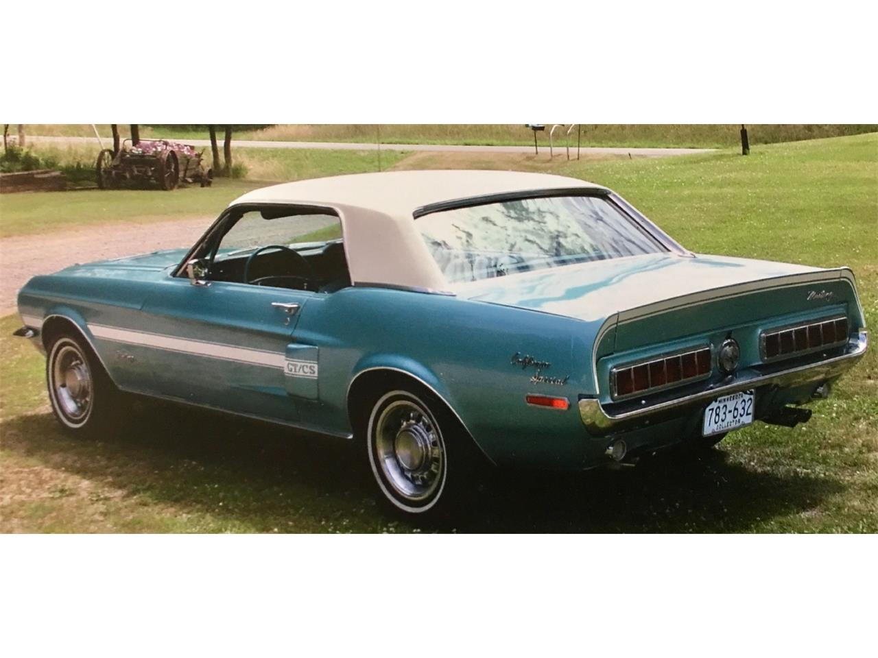 1968 Ford Mustang GT/CS (California Special) (CC-1033282) for sale in Annandale, Minnesota