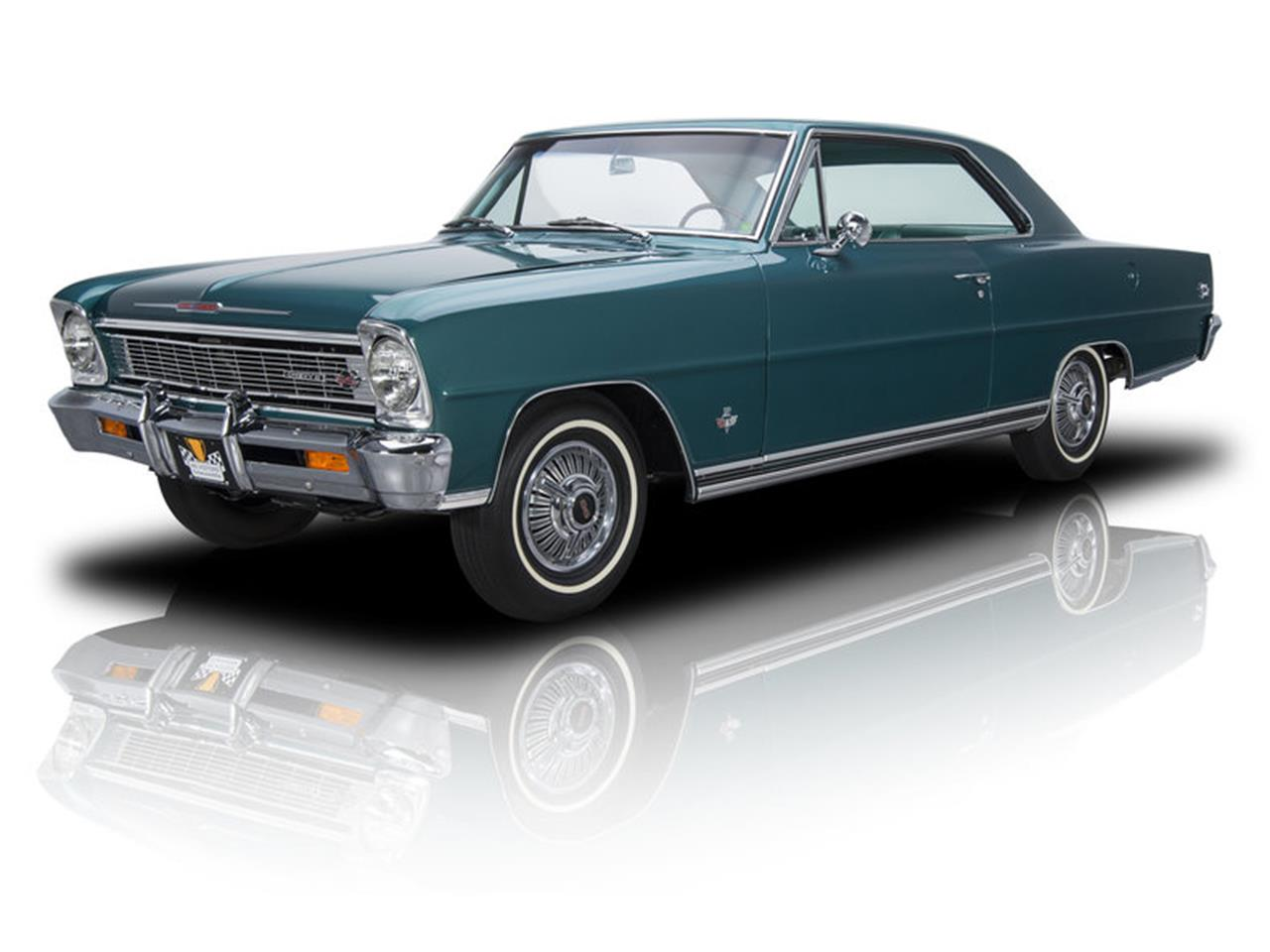 1966 Chevy ll license black plate car tag 66 Chevrolet Nova super sport 2 two