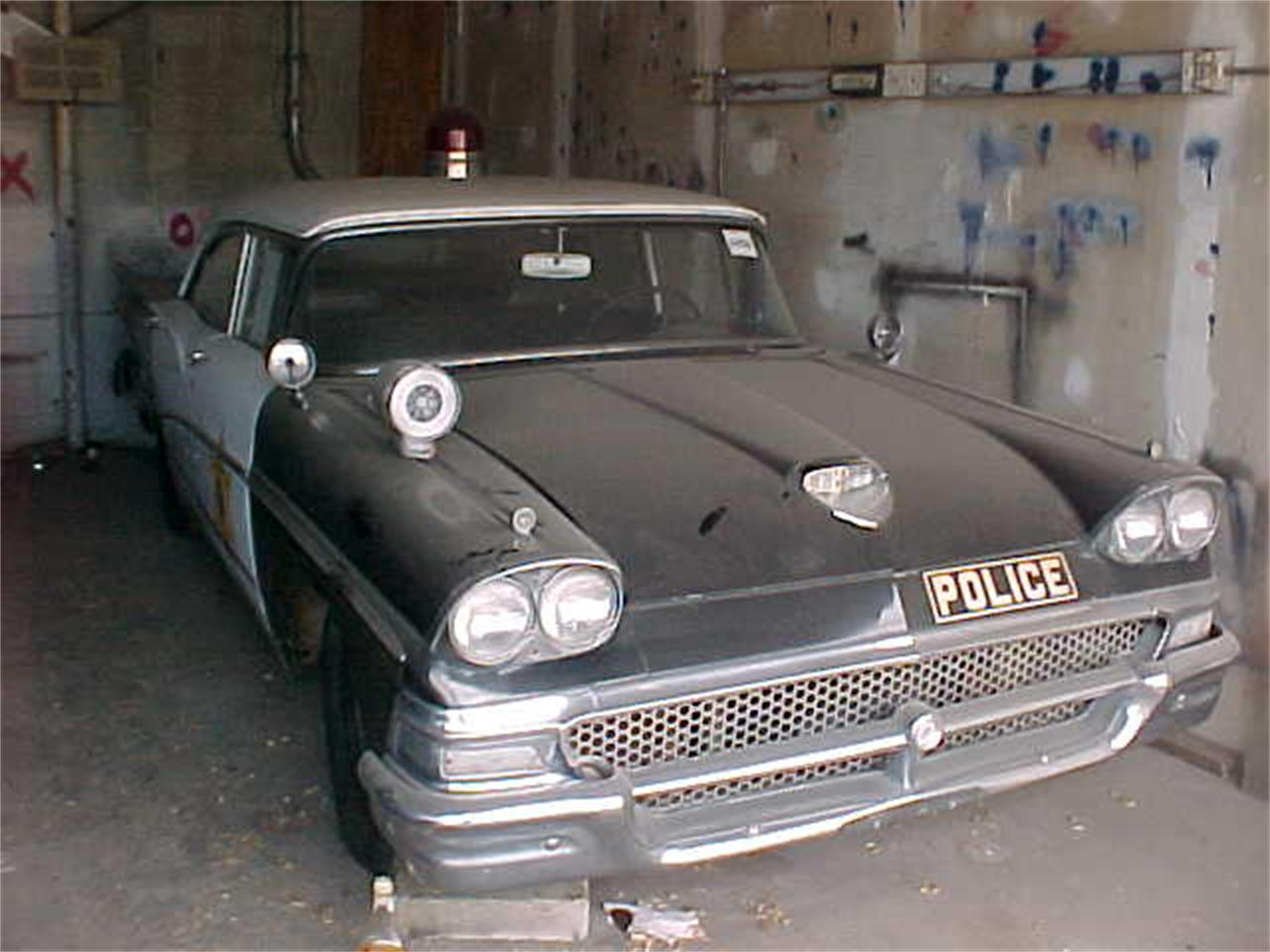Police Cars For Sale >> 1958 Ford Police Car For Sale Classiccars Com Cc 1085373