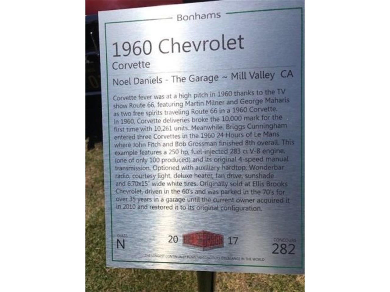 1960 Chevrolet Corvette (CC-1157494) for sale in Cadillac, Michigan