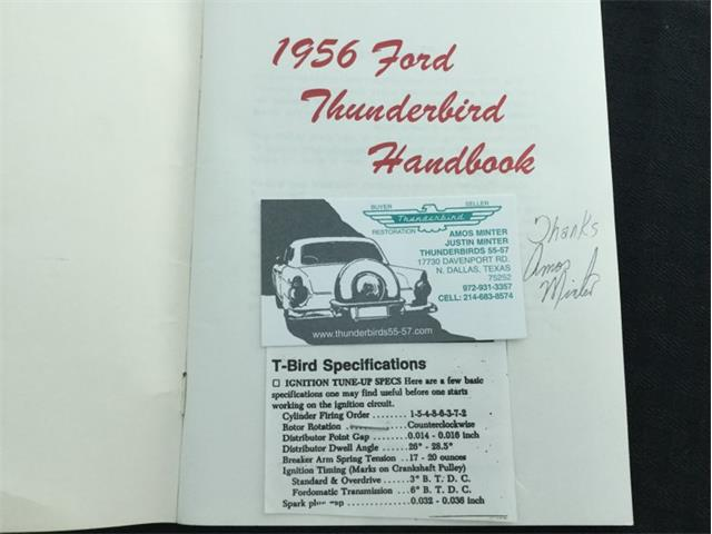 1956 Ford Thunderbird Owners Manual 56 T bird Owner Handbook User Guide Book