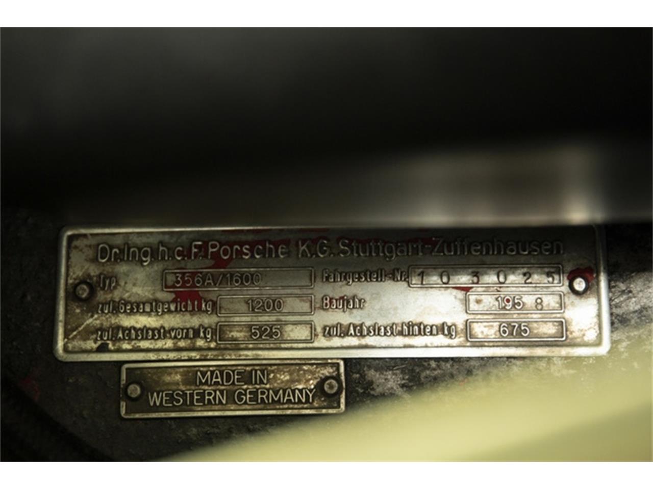 1958 Porsche 356 (CC-1210350) for sale in Pleasanton, California