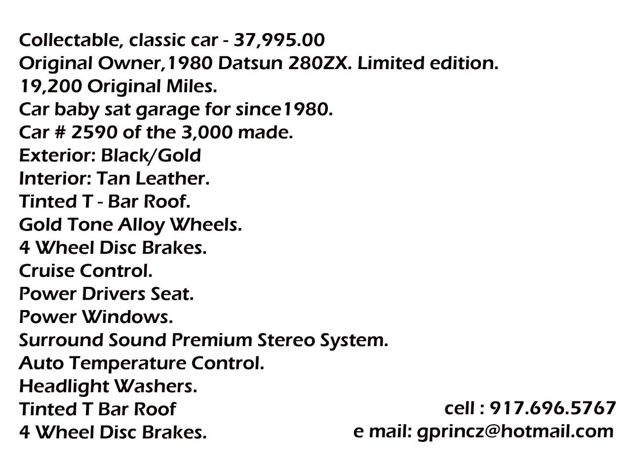 1980 Datsun 280ZX (CC-1243698) for sale in New City, New York