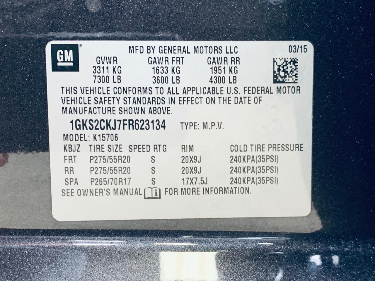 2015 GMC Yukon (CC-1258830) for sale in Mooresville, North Carolina