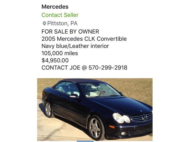 2005 Mercedes-Benz CLK (CC-1259191) for sale in West Pittston, Pennsylvania