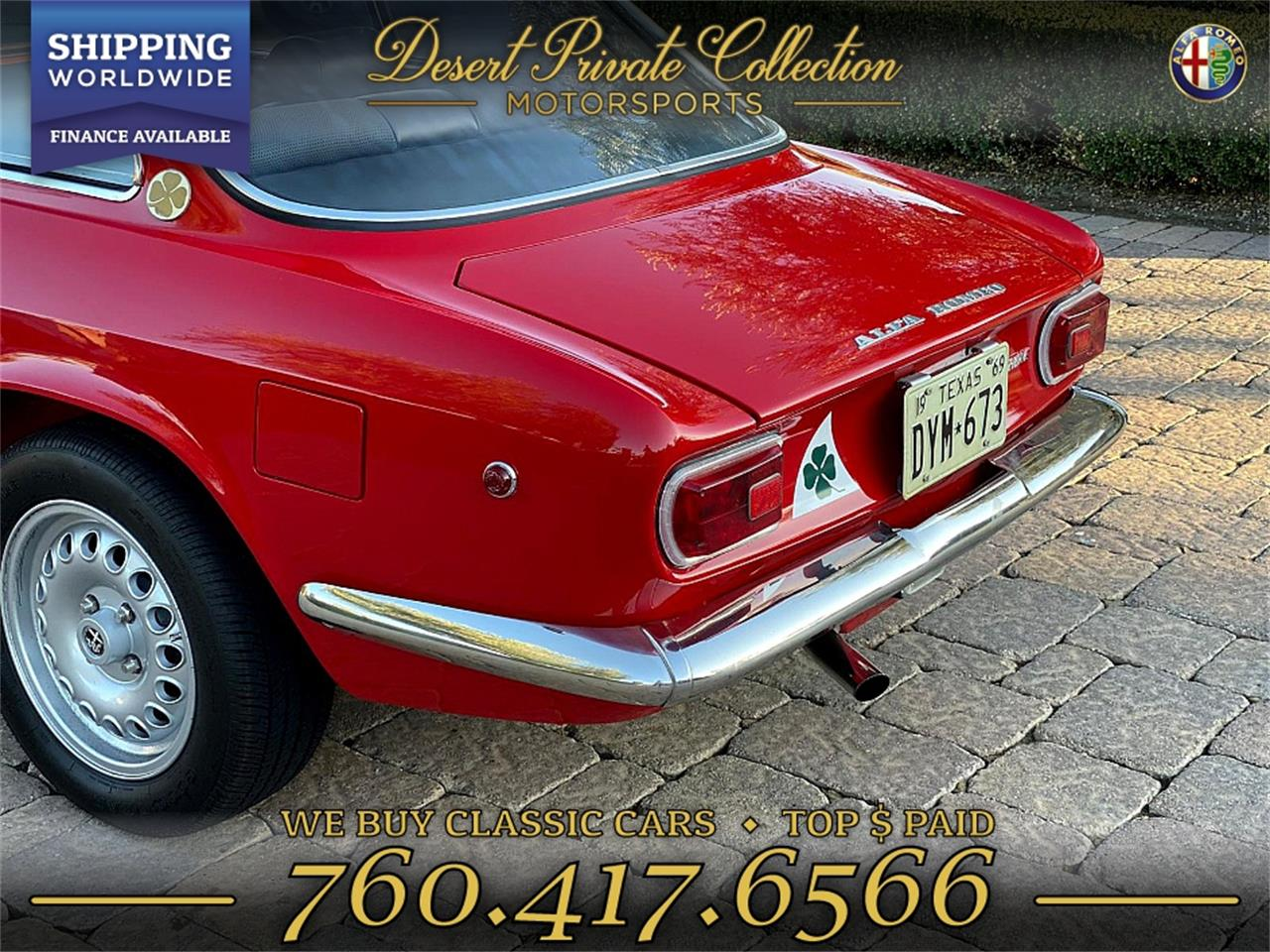 1969 Alfa Romeo GTV 1750 (CC-1259295) for sale in Palm Desert , California