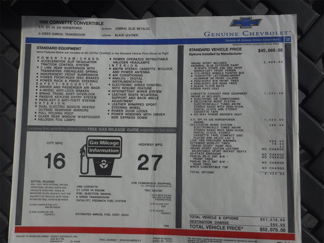 1996 Chevrolet Corvette C4 (CC-1265523) for sale in Danville, California