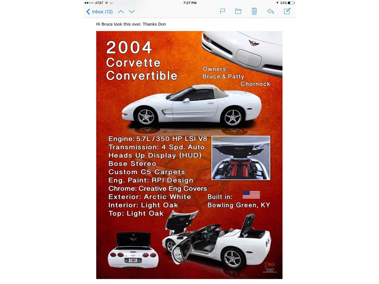 2004 Chevrolet Corvette (CC-1270391) for sale in Hiram, Georgia