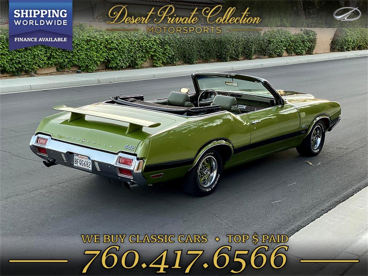 1971 Oldsmobile 442 (CC-1297835) for sale in Palm Desert , California