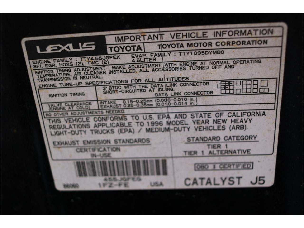 1996 Lexus LX (CC-1305975) for sale in Conroe, Texas