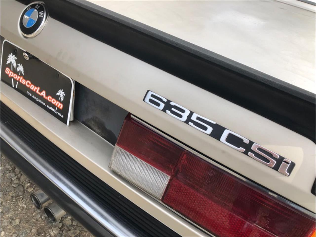 1985 BMW 635csi (CC-1309993) for sale in Los Angeles, California