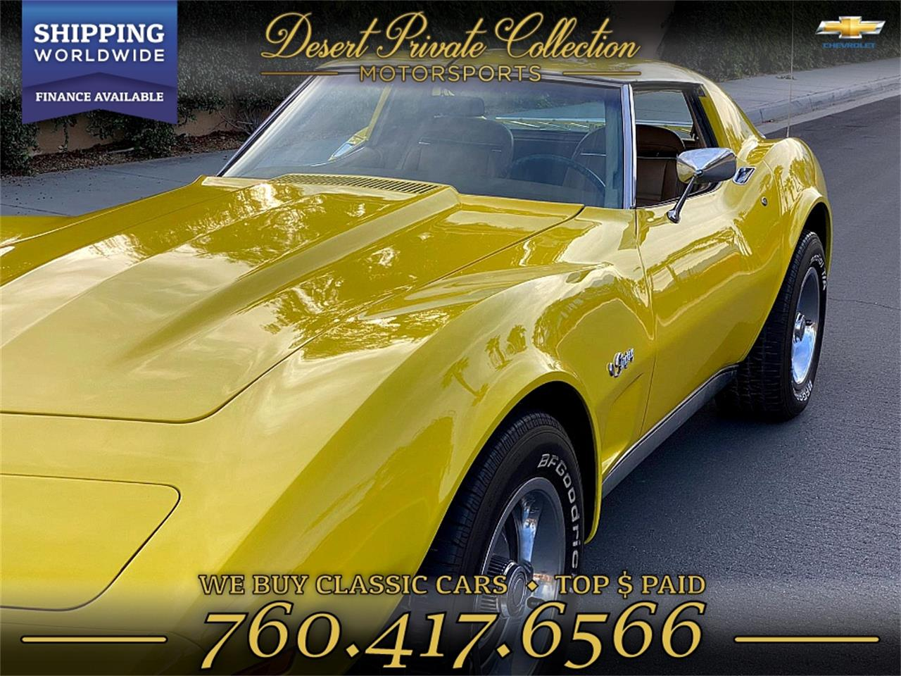 1974 Chevrolet Corvette Stingray (CC-1313957) for sale in Palm Desert , California