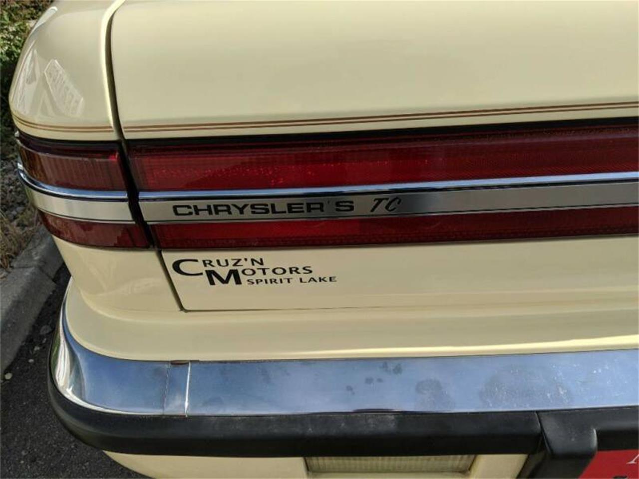 1989 Chrysler TC by Maserati (CC-1315568) for sale in Spirit Lake, Iowa