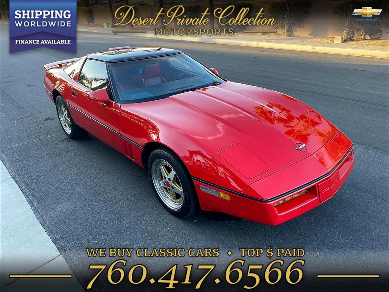 1988 Chevrolet Corvette (CC-1317650) for sale in Palm Desert , California