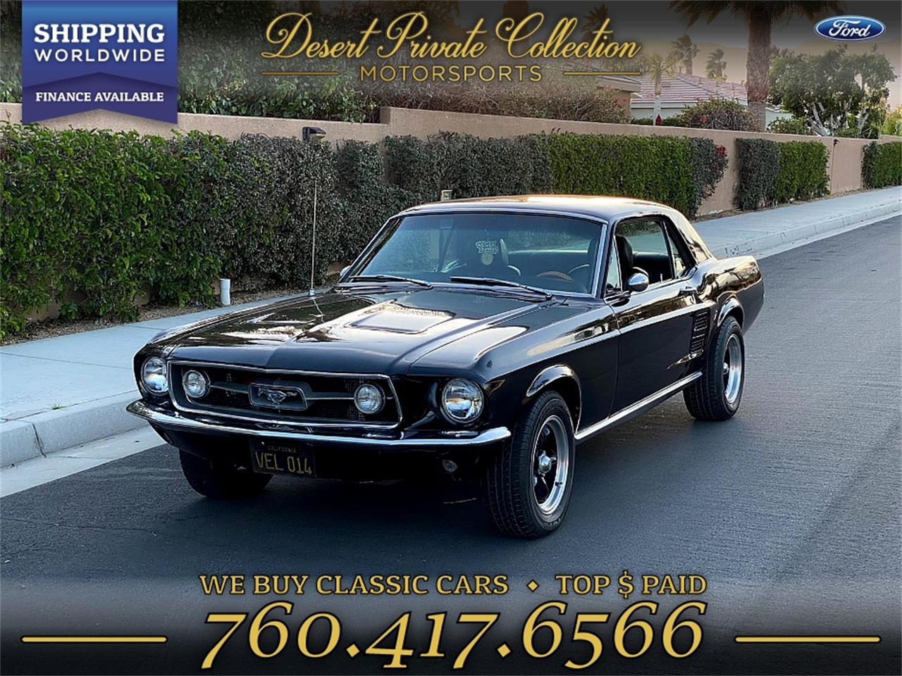 1967 Ford Mustang (CC-1321694) for sale in Palm Desert , California