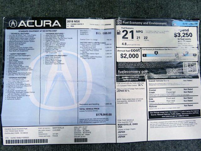 2018 Acura NSX (CC-1336913) for sale in Scottsdale, Arizona