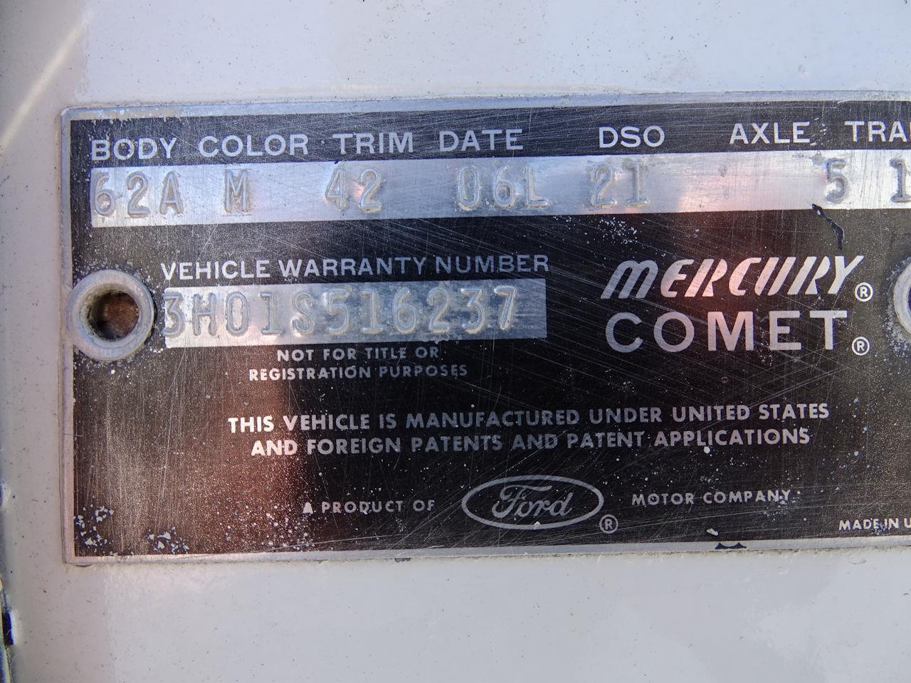 1963 Mercury Comet (CC-1342325) for sale in O'Fallon, Illinois