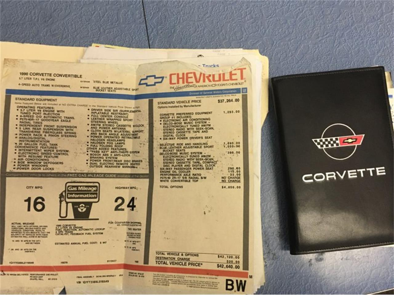 1990 Chevrolet Corvette (CC-1340300) for sale in Mooresville, North Carolina