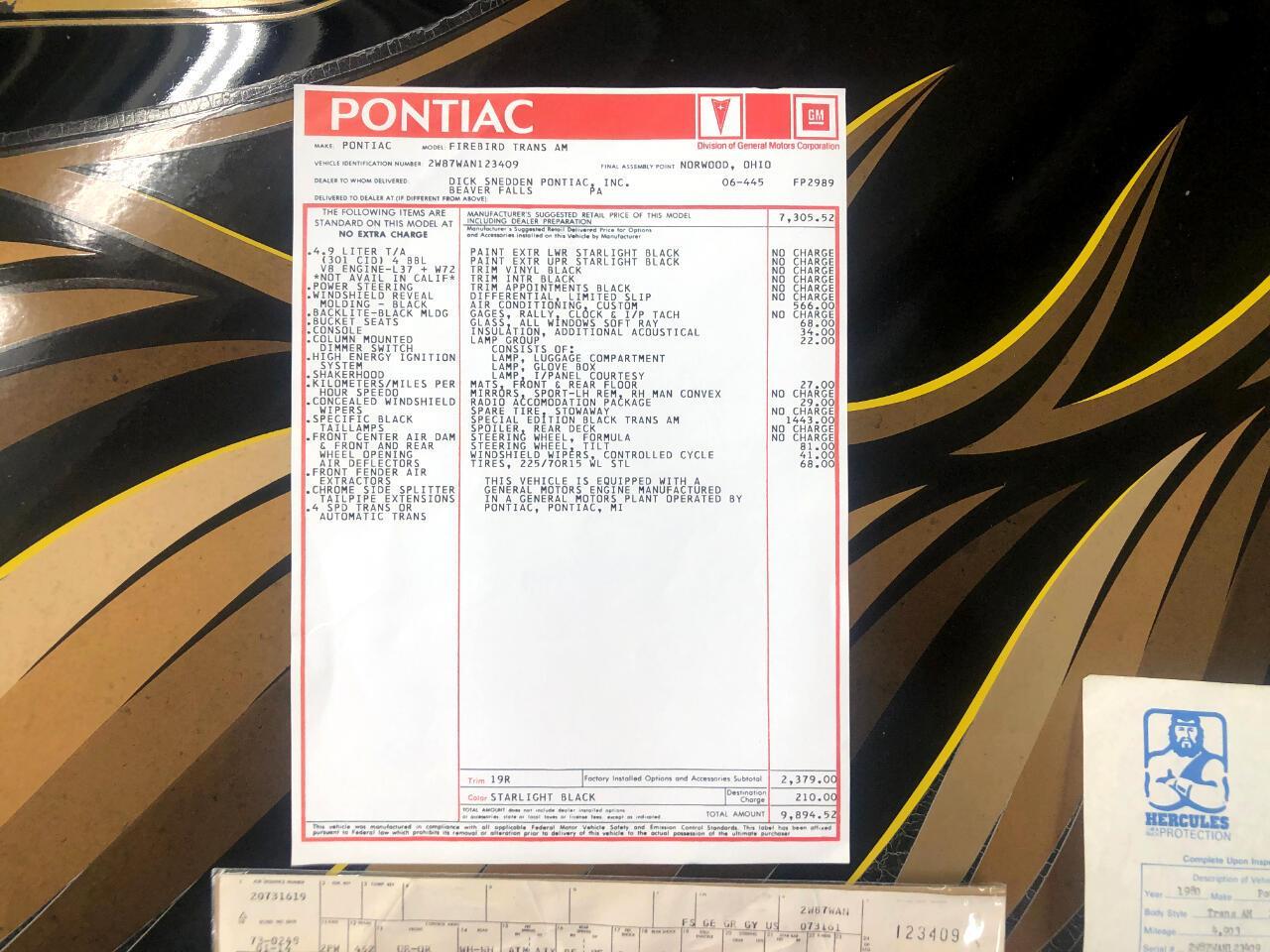 1980 Pontiac Firebird Trans Am (CC-1353470) for sale in North Canton, Ohio