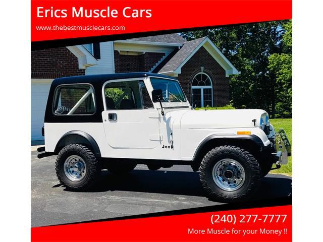 1986 Jeep CJ7 (CC-1358087) for sale in Clarksburg, Maryland
