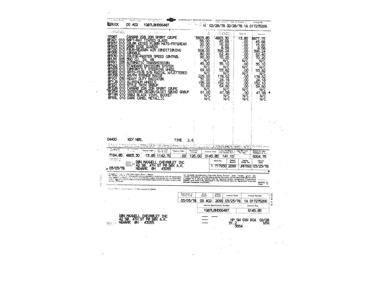 1978 Chevrolet Camaro (CC-1359385) for sale in Volo, Illinois