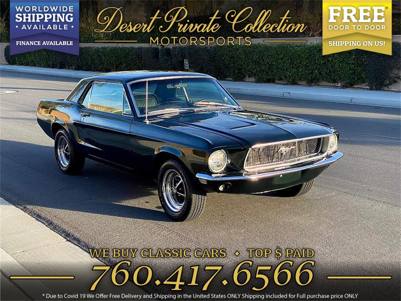 1968 Ford Mustang (CC-1363434) for sale in Palm Desert , California