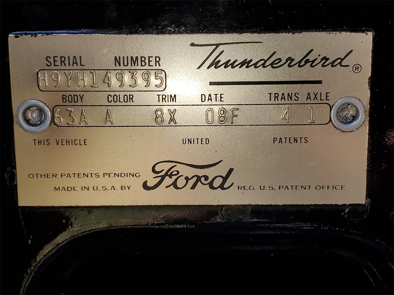 1959 Ford Thunderbird (CC-1360938) for sale in Prince George , Virginia