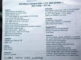 1993 Chevrolet Camaro Z28 (CC-1373603) for sale in Grand Rapids, Michigan