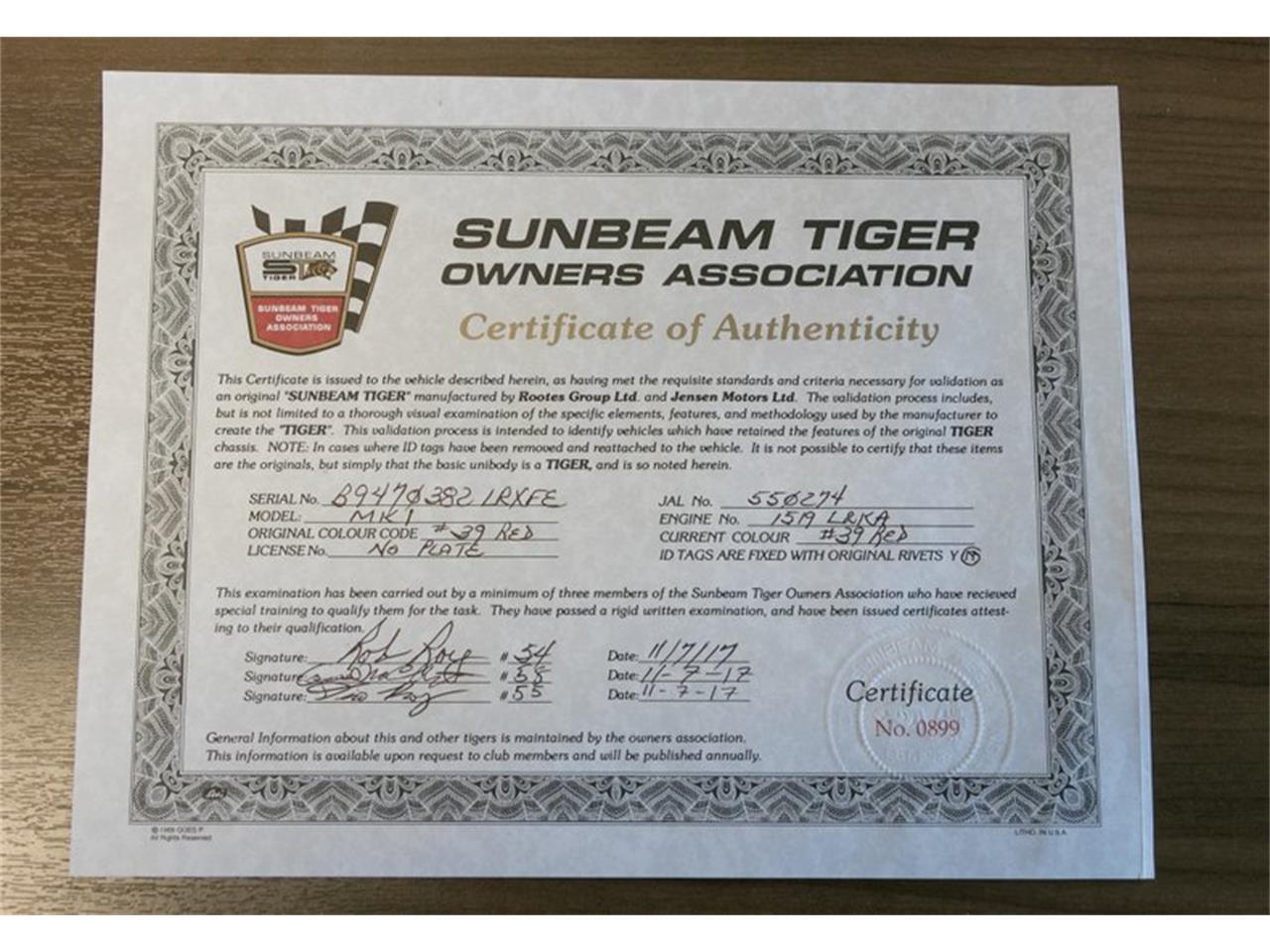 1965 Sunbeam Tiger (CC-1373905) for sale in St. Charles, Missouri