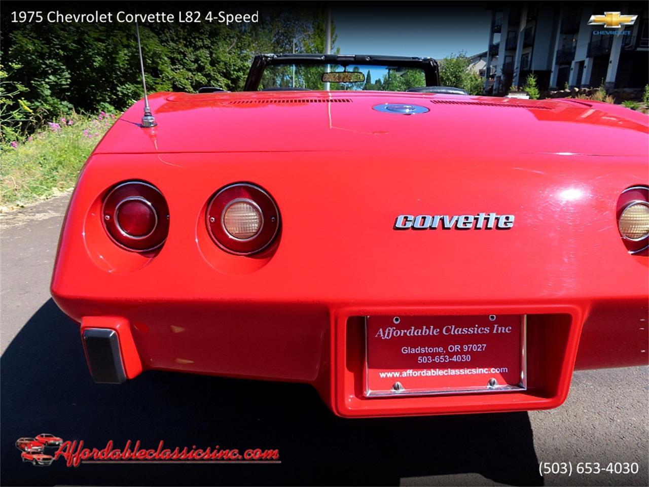 1975 Chevrolet Corvette L82 (CC-1374154) for sale in Gladstone, Oregon