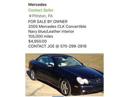 2005 Mercedes-Benz CLK (CC-1374600) for sale in West Pittston, Pennsylvania