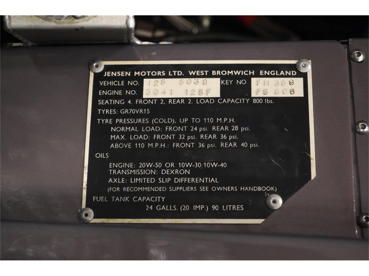 1970 Jensen Interceptor (CC-1383504) for sale in Mesa, Arizona