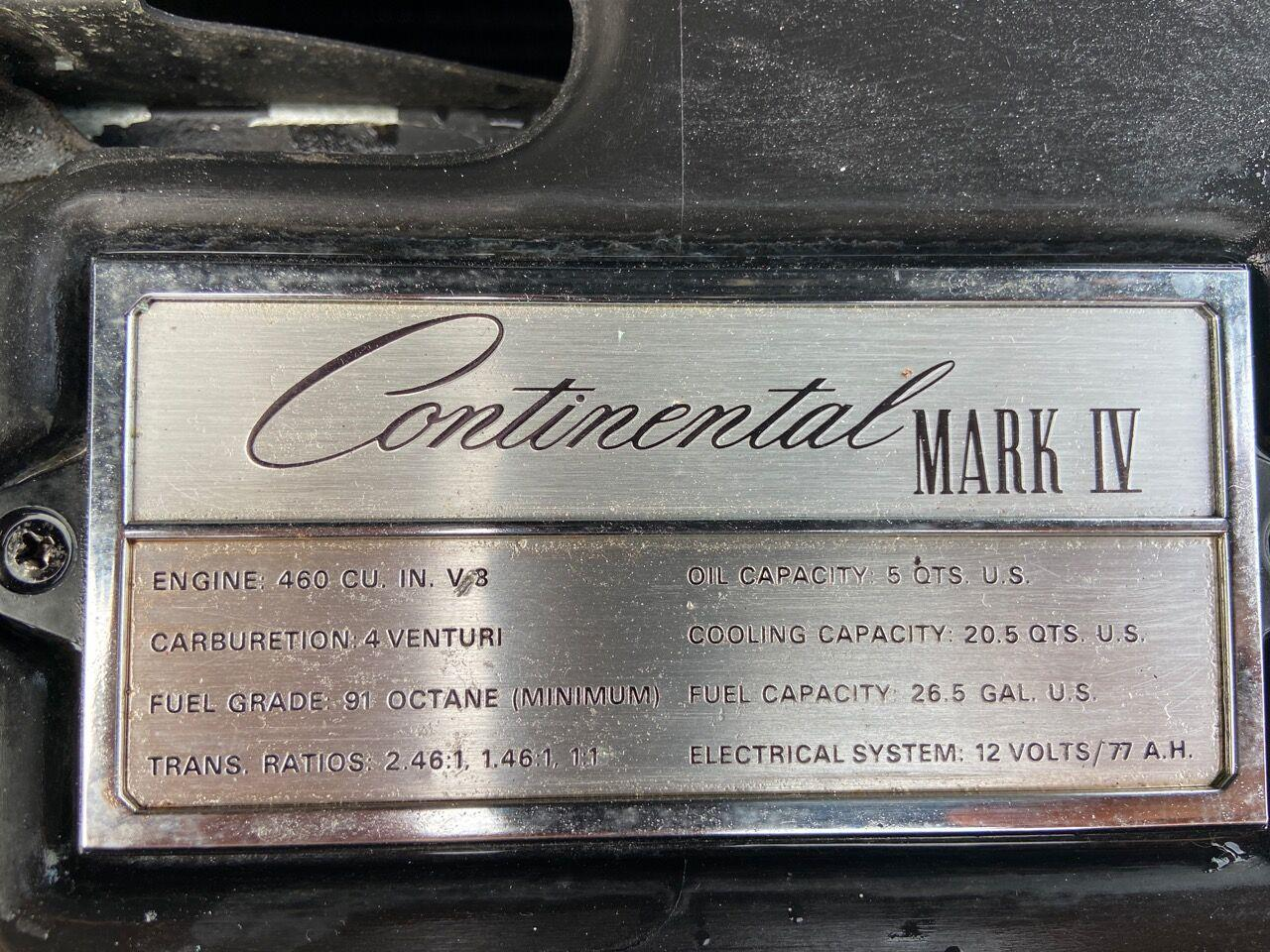 1974 Lincoln Continental Mark IV (CC-1384090) for sale in Westford, Massachusetts