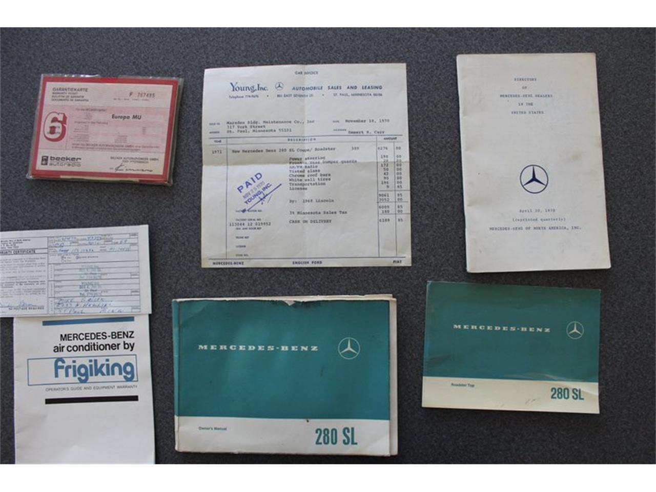 1971 Mercedes-Benz 280SL (CC-1387062) for sale in Christiansburg, Virginia
