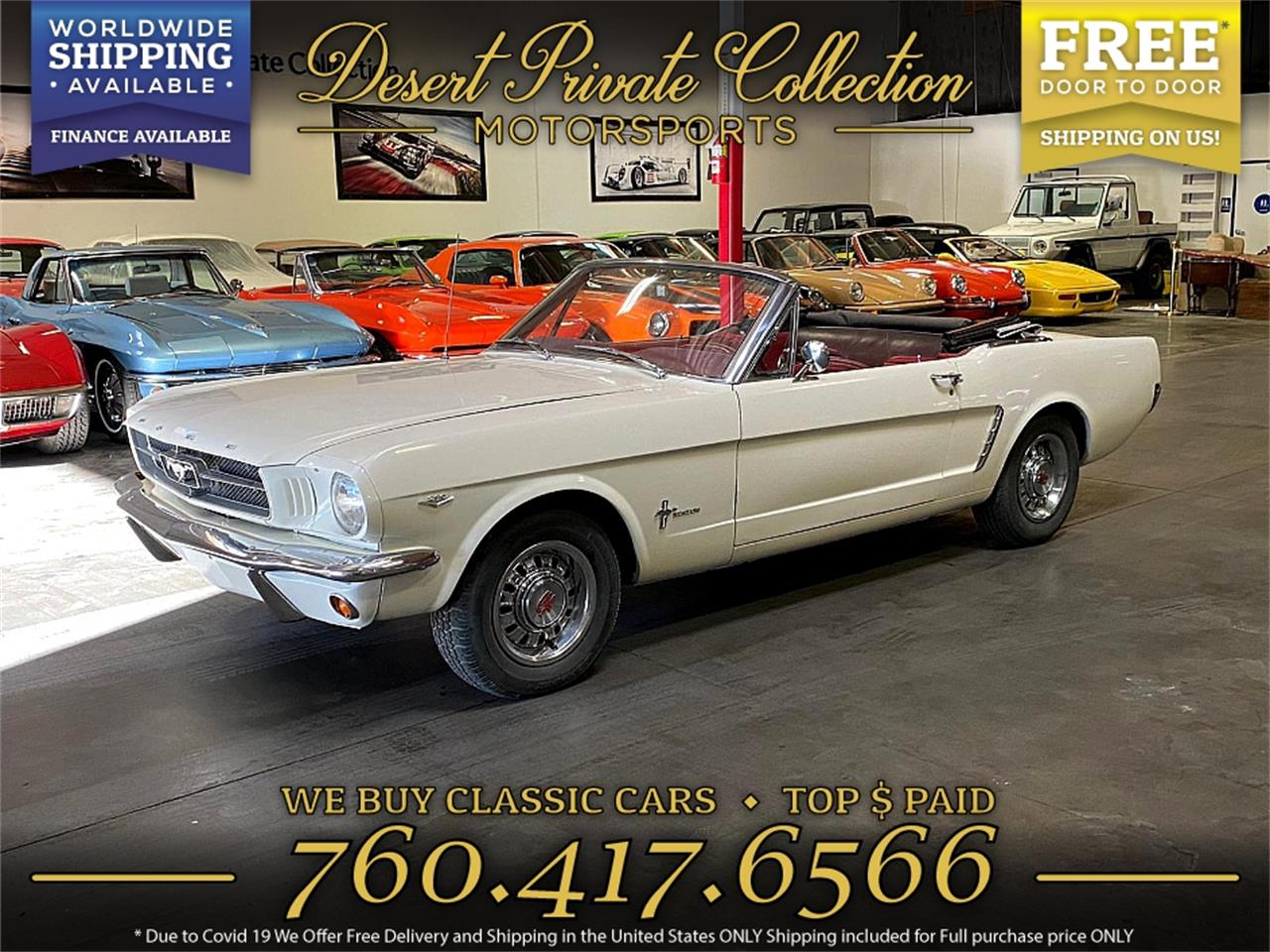 1965 Ford Mustang (CC-1391156) for sale in Palm Desert , California