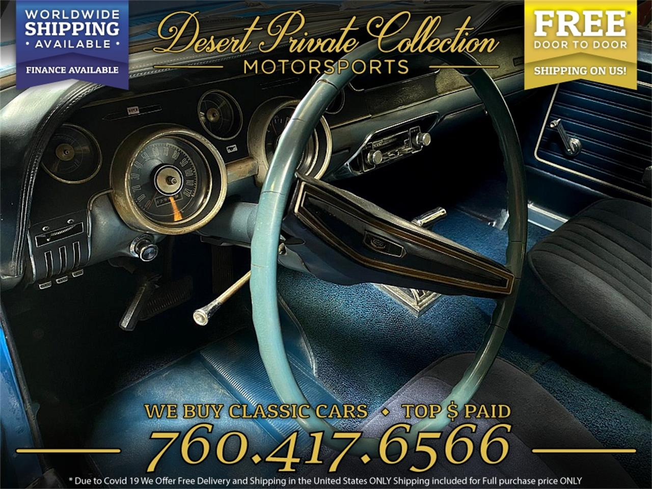1968 Ford Mustang (CC-1391450) for sale in Palm Desert , California