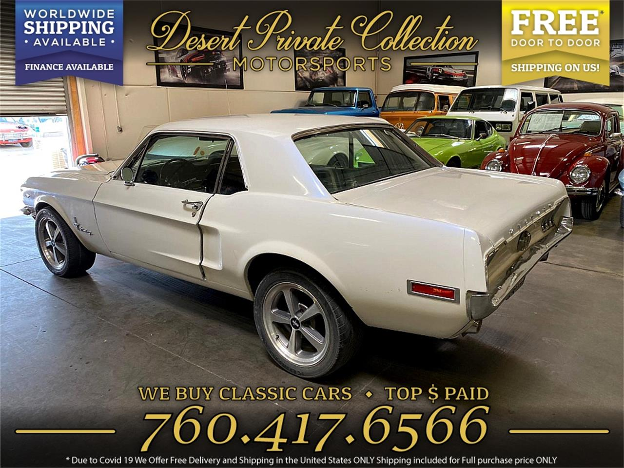 1968 Ford Mustang (CC-1394188) for sale in Palm Desert , California