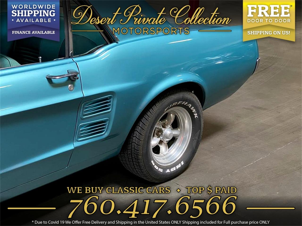 1967 Ford Mustang (CC-1394198) for sale in Palm Desert , California