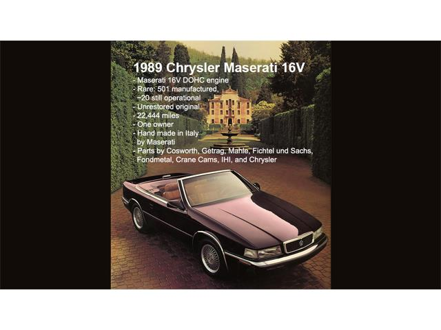 1989 Chrysler TC by Maserati (CC-1409727) for sale in Lexington, South Carolina
