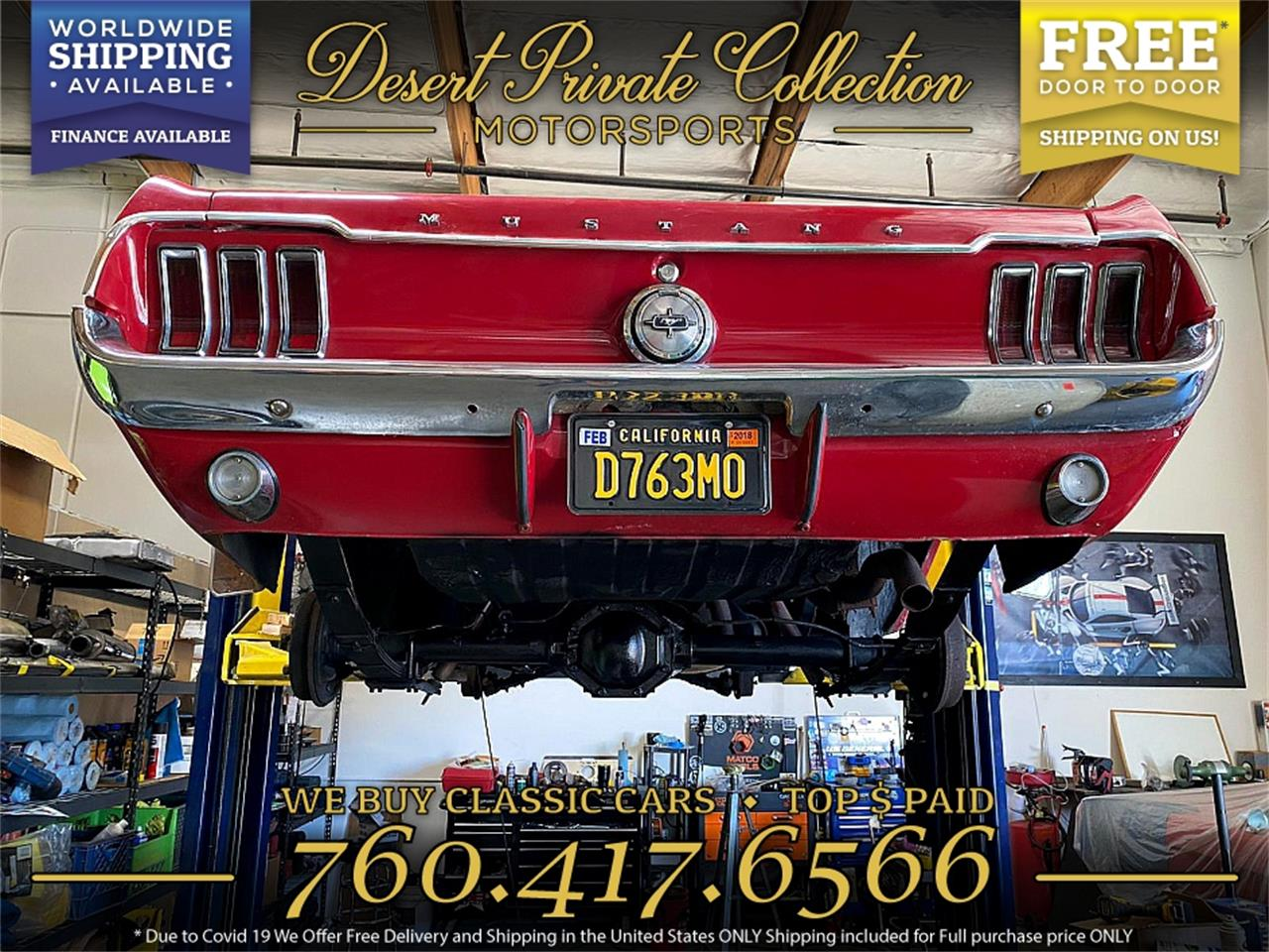 1968 Ford Mustang (CC-1414534) for sale in Palm Desert , California