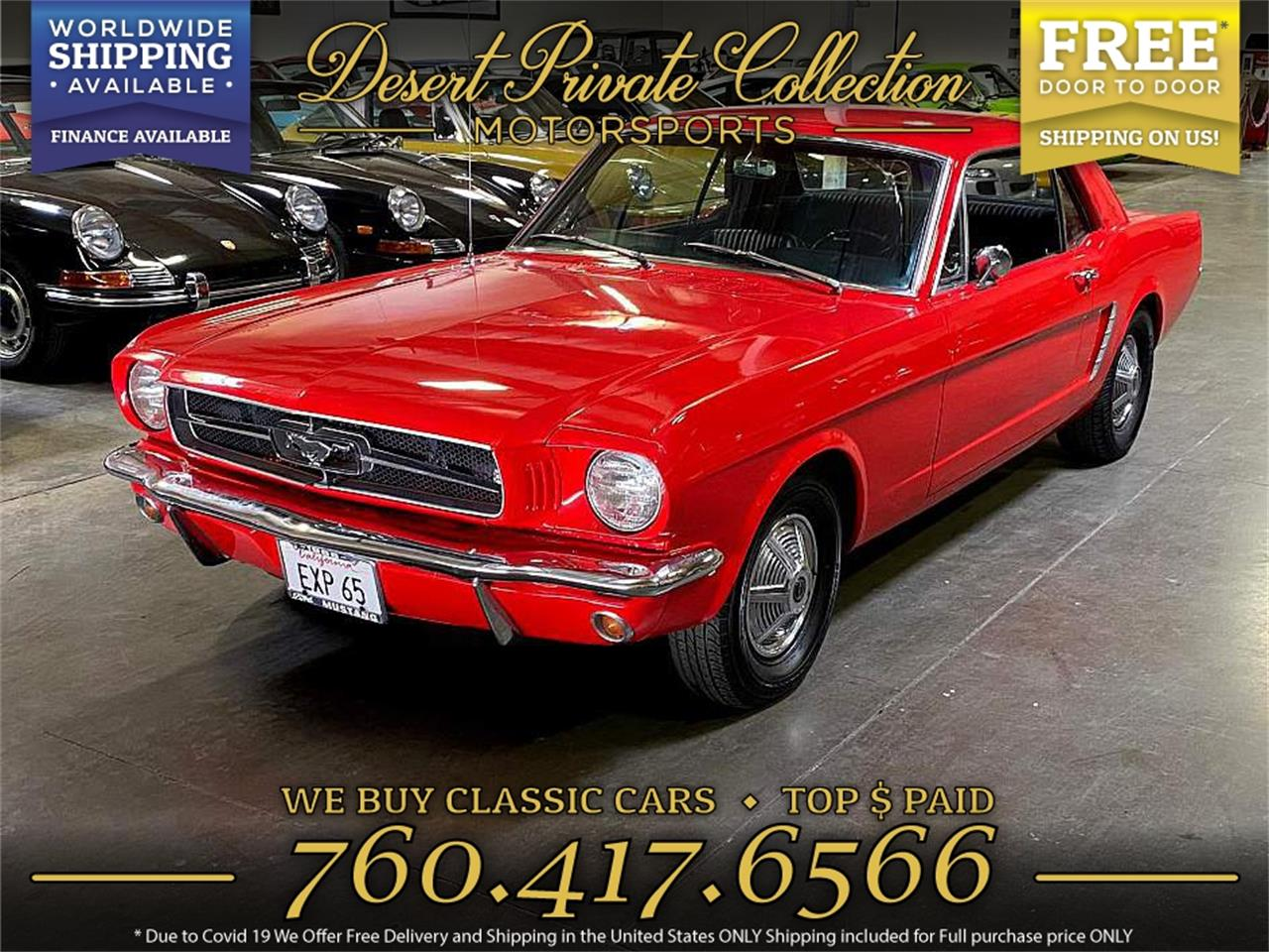 1965 Ford Mustang (CC-1416738) for sale in Palm Desert , California