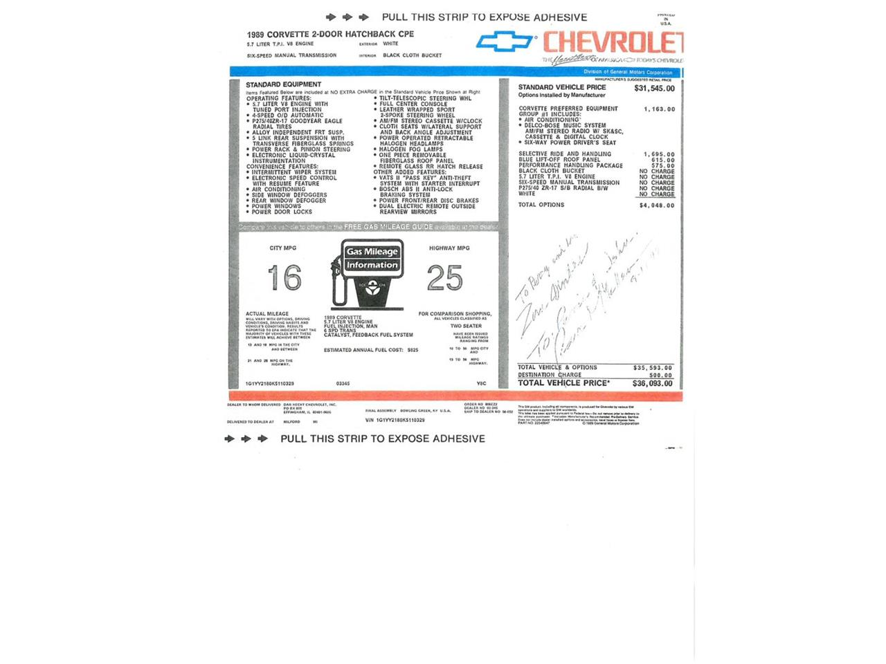 1989 Chevrolet Corvette (CC-1418044) for sale in Wallingford, Connecticut