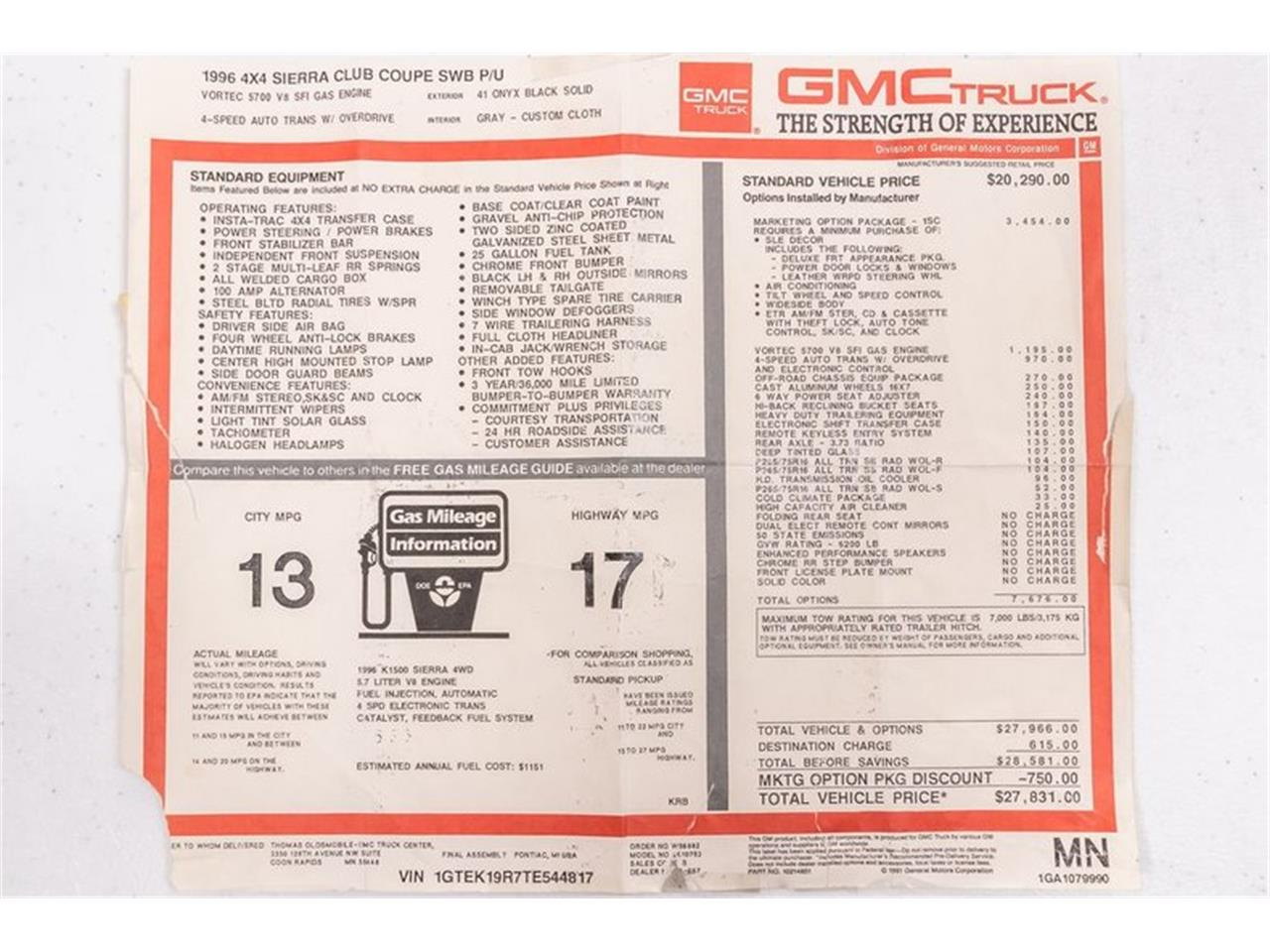 1996 GMC Sierra (CC-1421797) for sale in Plymouth, Michigan