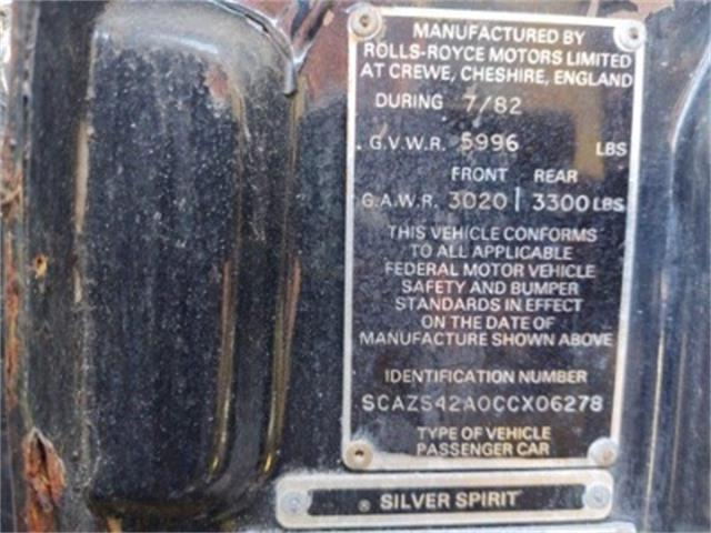 1982 Rolls-Royce Silver Spirit (CC-1427138) for sale in Miami, Florida