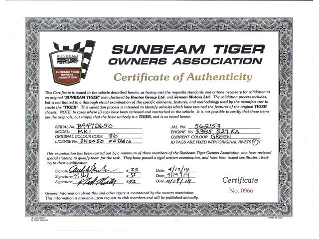 1966 Sunbeam Tiger (CC-1434736) for sale in Roswell, Georgia