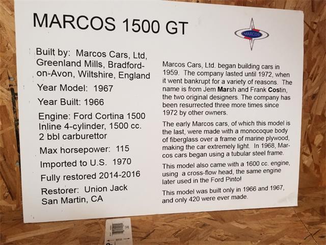1967 Marcos GT (CC-1435799) for sale in Los Gatos, California