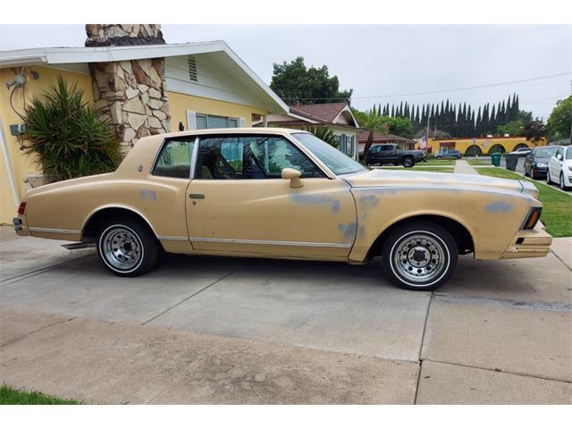 1979 Chevrolet Monte Carlo (CC-1443099) for sale in Lahabra, California