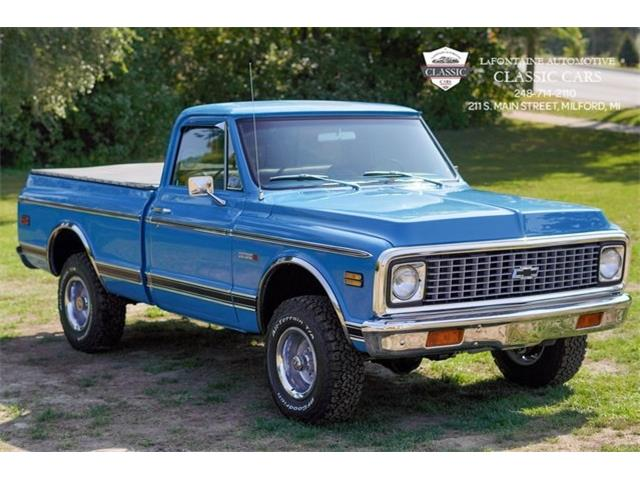 1972 Chevrolet C/K 10 (CC-1443920) for sale in Milford, Michigan