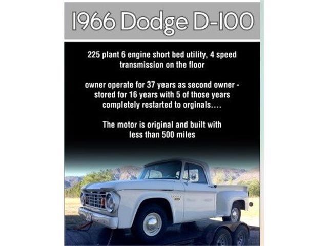 1966 Dodge D100 (CC-1448229) for sale in Cadillac, Michigan