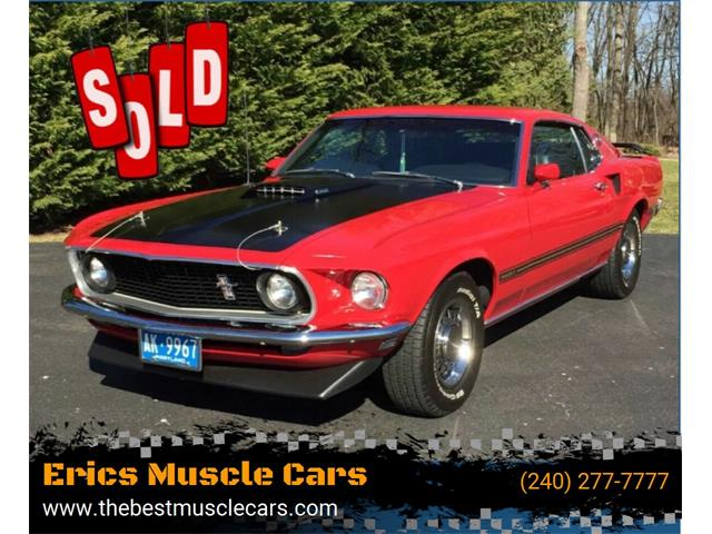 1969 Ford Mustang Mach 1 (CC-1469610) for sale in Clarksburg, Maryland